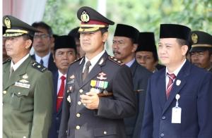 Kapolres Kebumen AKBP Andik Setiyono beserta para Muspida pada Upacara Peringatan Hari Pahlawan 10 November 2010