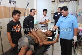 SELAMAT - Kondisi Purwadi saat mendapat perawatan di PKU Muhamadiyah Sruweng