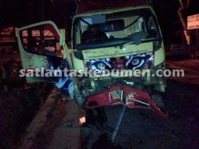 Kondisi Truk AA-1802-BD setelah kecelakaan