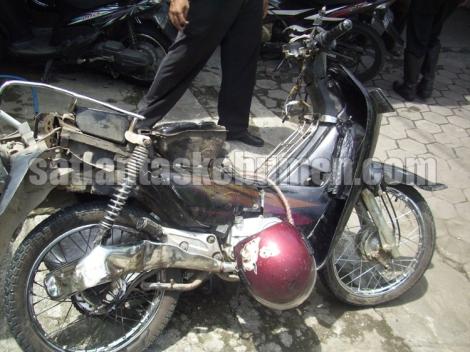 RINGSEK - kondisi sepeda motor setelah diamankan petugas