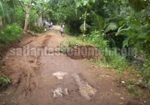 Kondisi jalan yang dilewati Truk naas tersebut
