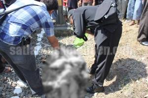 Kondisi korban saat dilakukan identifikasi di TKP