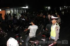 RAMAI - para pengendara motor tanpa helm yang diamankan