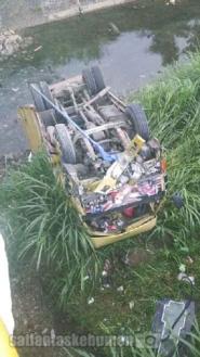 Kondisi Truk Box setelah  kecelakaan