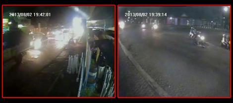 Pantauan arus lalin CCTV  Pasar Gombong dan Simpang 3 Kedungbener pukul 19.40 wib