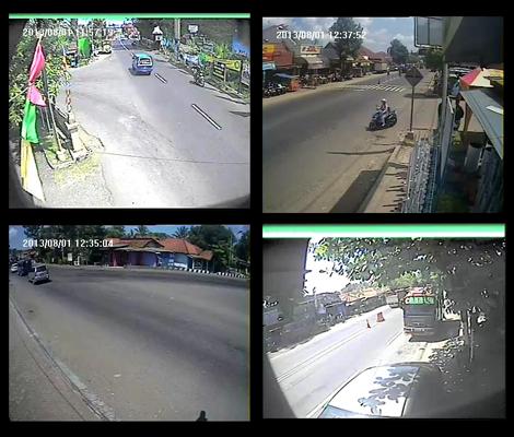Pantauan dari 4 titik CCTV TMC Kebumen hingga pukul 12.30 siang ini